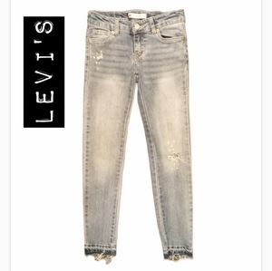 Levi's Distressed Skinny Ankle Jeans